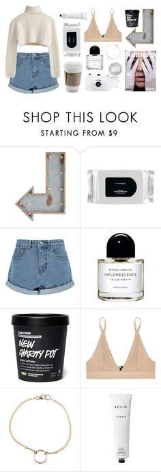 """""""Outfit (casual)  #36"""" by tayscutts ❤ liked on Polyvore featuring Pier 1 Imports, MAC Cosmetics, Boohoo, Byredo, Base Range, Dogeared and Rodin Olio Lusso"""