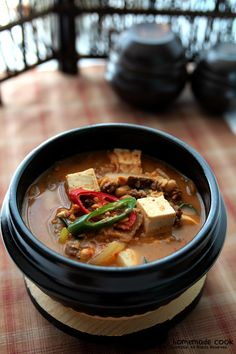 Korean Food, Food Plating, Soups And Stews, Thai Red Curry, Bread Recipes, Pork, Food And Drink, Beef, Dishes