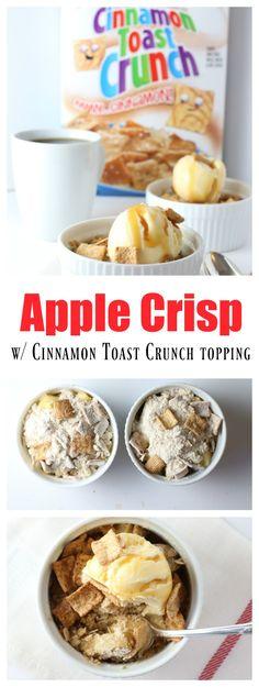 Apple Crisp with a Cinnamon Toast Crunch Topping Apple Crisp with a Cinnamon Toast Crunch Topping Apple Cris. Apple Desserts, Apple Recipes, Easy Desserts, Sweet Recipes, Delicious Desserts, Dessert Recipes, Dessert Ideas, Cake Ideas, Yummy Food
