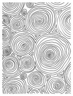 Lexi - squiggle modern black and white hand drawn pattern design . Circle Pattern, Pattern Art, Pattern Design, Surface Pattern, Line Patterns, Textures Patterns, Design Textile, Op Art, Line Drawing