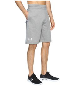 Under Armour Tech Terry Shorts Men's Shorts True Gray Heather/Steel/Silver Under Armour Men, French Terry, Mens Fashion, Shorts, Tech, Clothes, Gray, Shopping, Silver