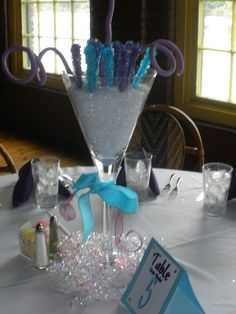Rock candy simply ROCKS this Bat Mitzvah! Candy theme centerpiece