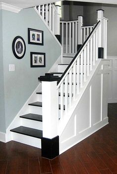 Painted Wood Stair Remodel. The first thing to change in our new home is to get rid of the carpet on the stairs. Do we hire someone to do it, or attempt to do the project ourselves?