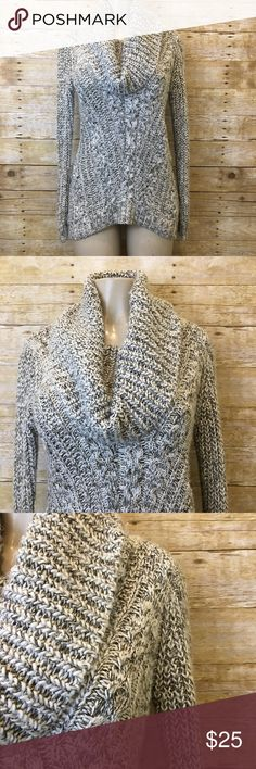 """Foreign Exchange Chunky Knit Cowl Neck Sweater S Chunky knit cowl neck sweater. Size small. Armpit to armpit 19"""" Inseam 21"""". Great condition. Foreign Exchange Sweaters Cowl & Turtlenecks"""