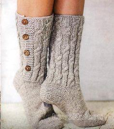 Vyazanye Noski V Stile Enterlak Pictures Wool Socks, Knitting Socks, Hand Knitting, Knitting Patterns, Crochet Cross, Knit Crochet, Slipper Socks, Slippers, Mitten Gloves
