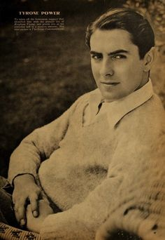 Tyrone Power - Photoplay Magazine, circa 1939
