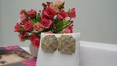 "Swarovski Clip Earrings Jewelry Crystals Gold Tone VTG. Signed 1"" #Swarovski #Large1TwistedRopeClips"