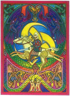 Odin Viking/Norse Pagan Greeting Cards, by Courtney Davis 6 pk.