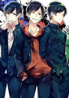 Osomatsu-san Osomatsu, Karamatsu & Choromatsu #Anime「♡」 おそ松 カラ松 チョロ松