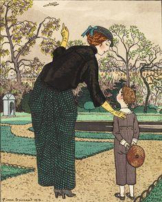 Regarde la-haut...Toto    Gazette du Bon Ton, no. 5  March 1913