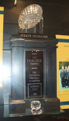 1990 AFCA National Championship Trophy Georgia Tech received.