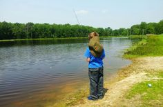 My little angler,my son.