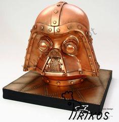 #Steampunk Darth Vader helmet cake