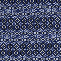"""Royal Blue Black Small Diamond Plus Hacci Sweater Knit Fabric :: Pretty colors of royal blue and black in a lovely smaller scare diamond and plus sign design Hacci sweater knit.  A tight weave fabric with a nice drape and stretch, medium weight.  Diamond measures 1 1/4"""" wide.  Great for sweaters, tops, cardigans, beanies, scarves, shawls, and much more!  ::  $7.00"""