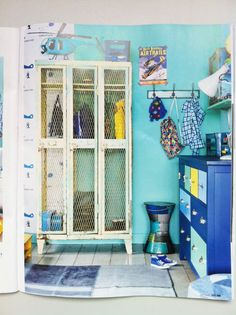 lockers in kids rooms - This would be great for Jacksons sports room