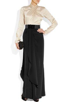 Temperley London - Delilah crossover silk-satin top - £495    Bernice draped silk-crepe maxi skirt - £695