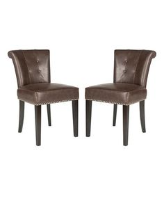 Another great find on #zulily! Antique Brown Victoria Chair - Set of Two #zulilyfinds