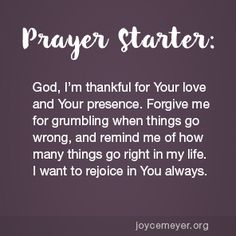 Joyce Meyer Recent Messages Featuring: The Parable of the Unforgiving Servant - Part 2 - Enjoying Everyday Life Prayer Scriptures, Faith Prayer, God Prayer, Power Of Prayer, Bible Verses, Joyce Meyer Quotes, Prayer For Guidance, Spiritual Guidance, Spiritual Growth