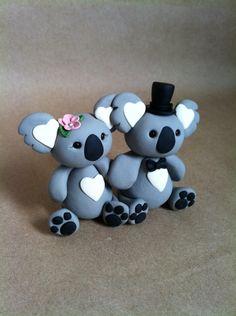 Koala bear cake toppers
