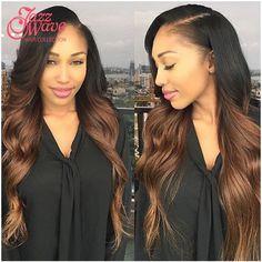 Ombre Brazilian Body Wave Virgin Hair T1B/30/33 Brazilian Ombre Hair Extensions 3 Bundles Ombre Human Hair Weaves