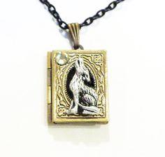 Werewolf Locket Necklace by Steampunkitis on Etsy, $32.00