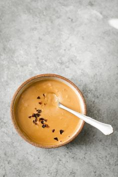An easy vegan and gluten-free peanut sauce that is the perfect companion for grain bowls, roasted vegetables, and as a dipping sauce.