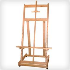 """""""Complete novice woodworking plans for building a fully-functional studio easel for less than 100 dollars in materials using tools you'll find in your basement or your friend's garage. Beginner Woodworking Projects, Woodworking Shop, Woodworking Plans, Diy Easel, Gifts For An Artist, Wood Working For Beginners, Wood Plans, Creative Gifts, Wood Crafts"""