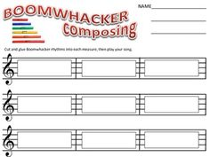 Good for music camp or workshop. This is a super fun group activity that introduces students to composing and performing with Boomwhackers. There are enough combinations of rhythm. Preschool Music, Music Activities, Classroom Activities, Classroom Ideas, Music Lesson Plans, Music Lessons, Piano Lessons, Piano Teaching, Learning Piano
