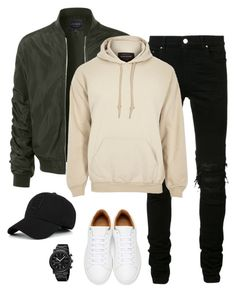 """Untitled #140"" by therealnaya on Polyvore featuring LE3NO, AMIRI, Marc Jacobs, River Island, Gucci, men's fashion and menswear"