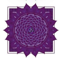Crown Chakra - Purple, thousand petal lotus, connection with higher power/God/Universe
