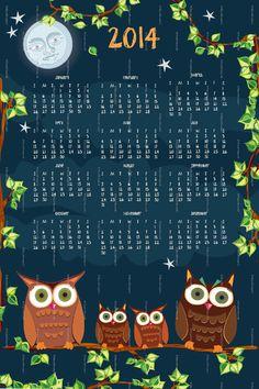 2014 Owl Calendar