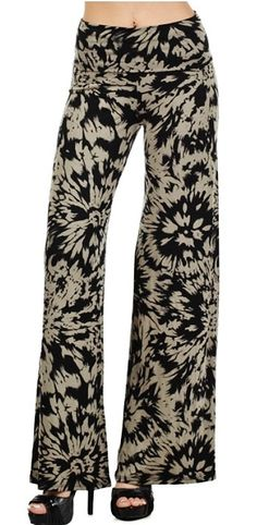 palazzo yoga pants..tie dye print... wide leg... by Foreverpeace, $32.95
