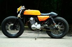 Fat tires on caferacer