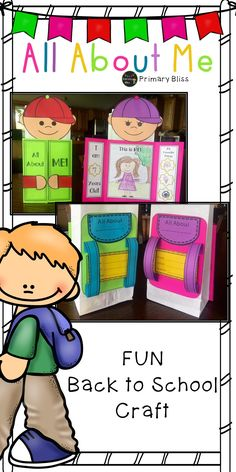 This All About Me bag is a GREAT way to start your year.  What a fun way to get to know your students - a perfect Back to School activity!