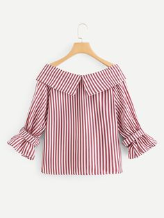 Shop [good_name] at ROMWE, discover more fashion styles online. Cute Blouses, Blouses For Women, Blouse Styles, Blouse Designs, Pakistani Dresses Casual, Blouse Outfit, Dress Sewing Patterns, Look Fashion, Fashion Styles