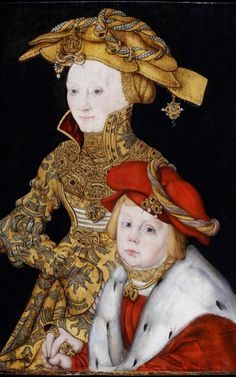 Portrait of a Lady and Her Son by Lucas Cranach. Leonardo da Vinci is not the only Renaissance artist to have had one of his works newly discovered. So has Lucas Cranach, the artist of the Reformation. Costume Renaissance, Renaissance Portraits, Renaissance Artists, Renaissance Clothing, Historical Costume, Historical Clothing, Compton Verney, Carl Spitzweg, Kurt Schwitters