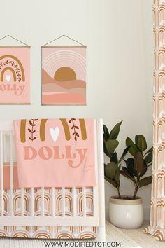 Check out this gorgeous bohemian crib bedding set for your baby girl nursery! Boho Nursery, Nursery Wall Art, Girl Nursery, Nursery Decor, Baby Girl Crib Bedding, Crib Bedding Sets, Boho Girl, Boho Baby, Nursery Curtains