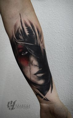 Girl Face Tattoo