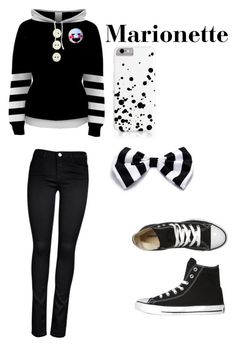 """""""Marionette"""" by ale5x-lee ❤ liked on Polyvore featuring Converse, ONLY and Freddy"""