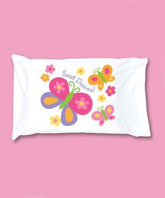 Look what I found on #zulily! Pink Butterfly Pillowcase by Stephen Joseph #zulilyfinds