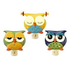Owl Night Lights - Love the one with pigtails