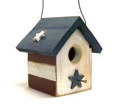 Treasured+Red+White+&+Blue.+Farmhouse+Chic+by+OkawValleyBirdhouses,+$20.00
