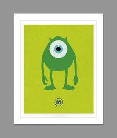 Digital Download Monsters Inc. Big Eye Mike by dotsonthewall, $6.00