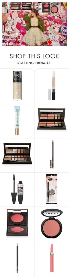 """""""Hayley Williams - The Only Exception Makeup"""" by oroartye-1 on Polyvore featuring beauty, Revlon, Too Faced Cosmetics, Kevyn Aucoin, Tom Ford, Maybelline, Ardell, Laura Mercier, LORAC and MAC Cosmetics"""