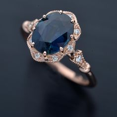 Oval Halo Engagement Ring, Vintage Inspired Engagement Rings, Dream Engagement Rings, Vintage Sapphire Engagement Rings, Non Traditional Engagement Rings Vintage, Colored Engagement Rings, Vintage Diamond Rings, Gemstone Engagement Rings, Dream Ring