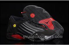 "41c39a7697d Air Jordan 14 Retro ""Last Shot"" Black/Varsity Red-Black Online Sale ETdXj"