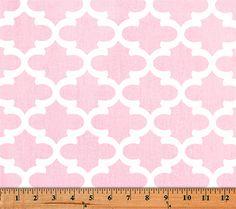 Quatrefoil Fabric Fulton Bella Pink made by Premier Prints Inc