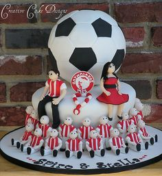 NOT baseball...but deserving of a pin..AWESOME!...Soccer Player Grooms Cake
