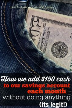How we add $150 cash to our savings account!