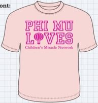 Sweet Phi Mu philanthropy shirt!